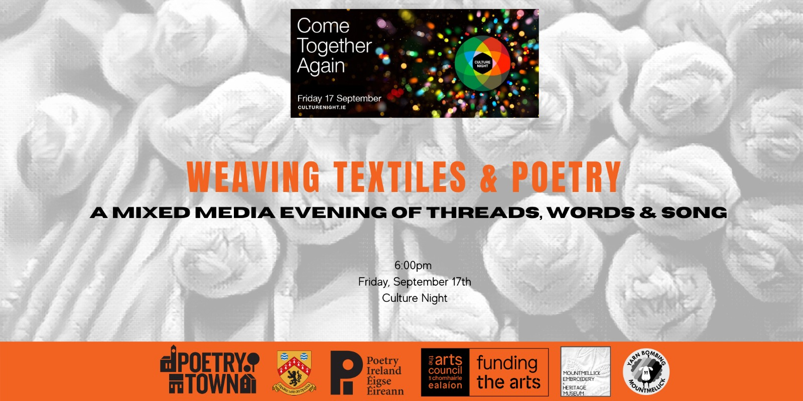 Weaving Textiles  Poetry  A Mixed Media Night of Words Threads and Song